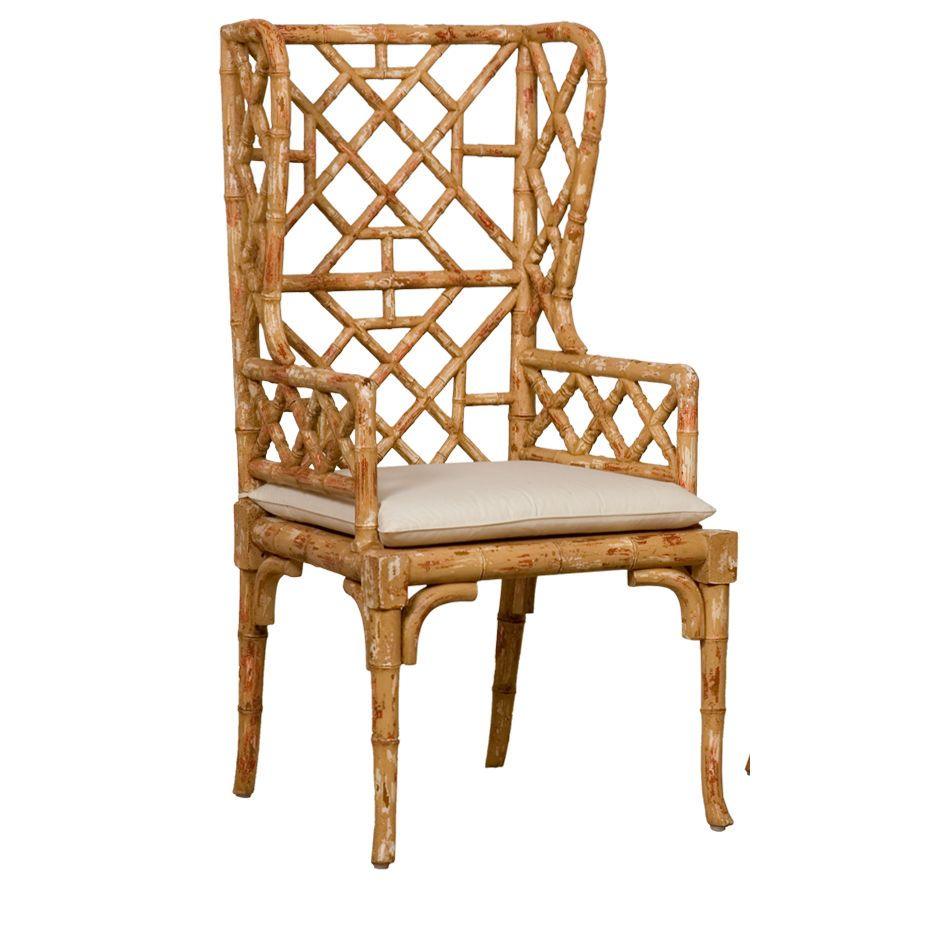 Bamboo Wingback Chair For The Home High Back Dining