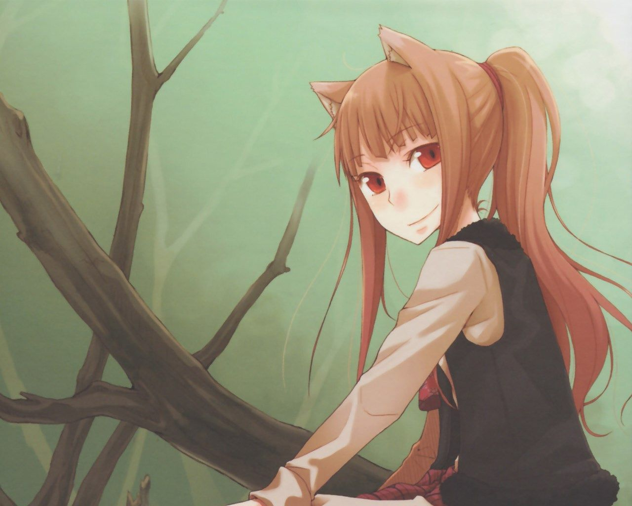 Desktop Wallpaper For Spice And Wolf Spice And Wolf Wolf Art Anime