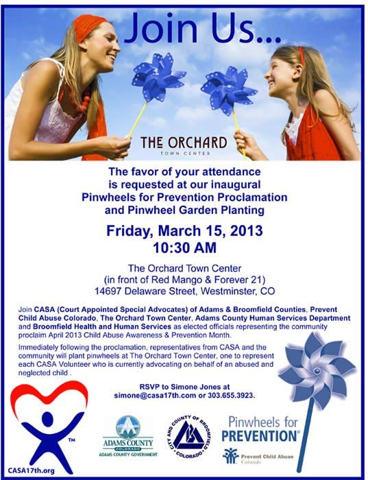 Join us this Friday for a pinwheels planting!