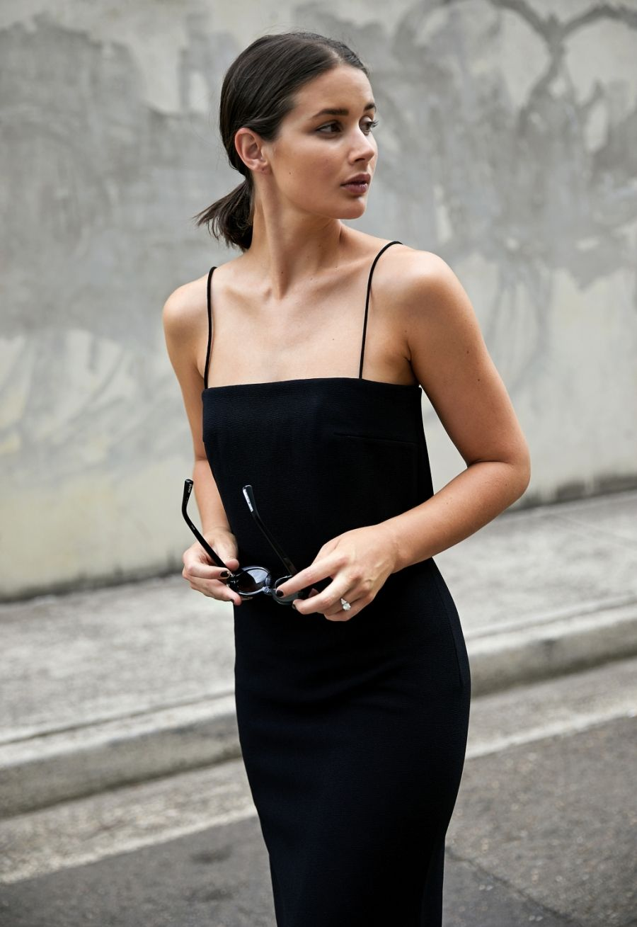 Black dress style outfit harperandharley fashion addiction