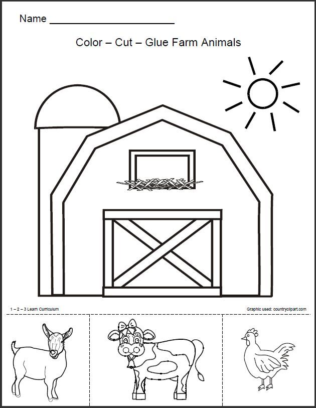 Free Farm Worksheets For Preschool - Google Search Farm Animals  Activities, Farm Preschool, Farm Animals Theme