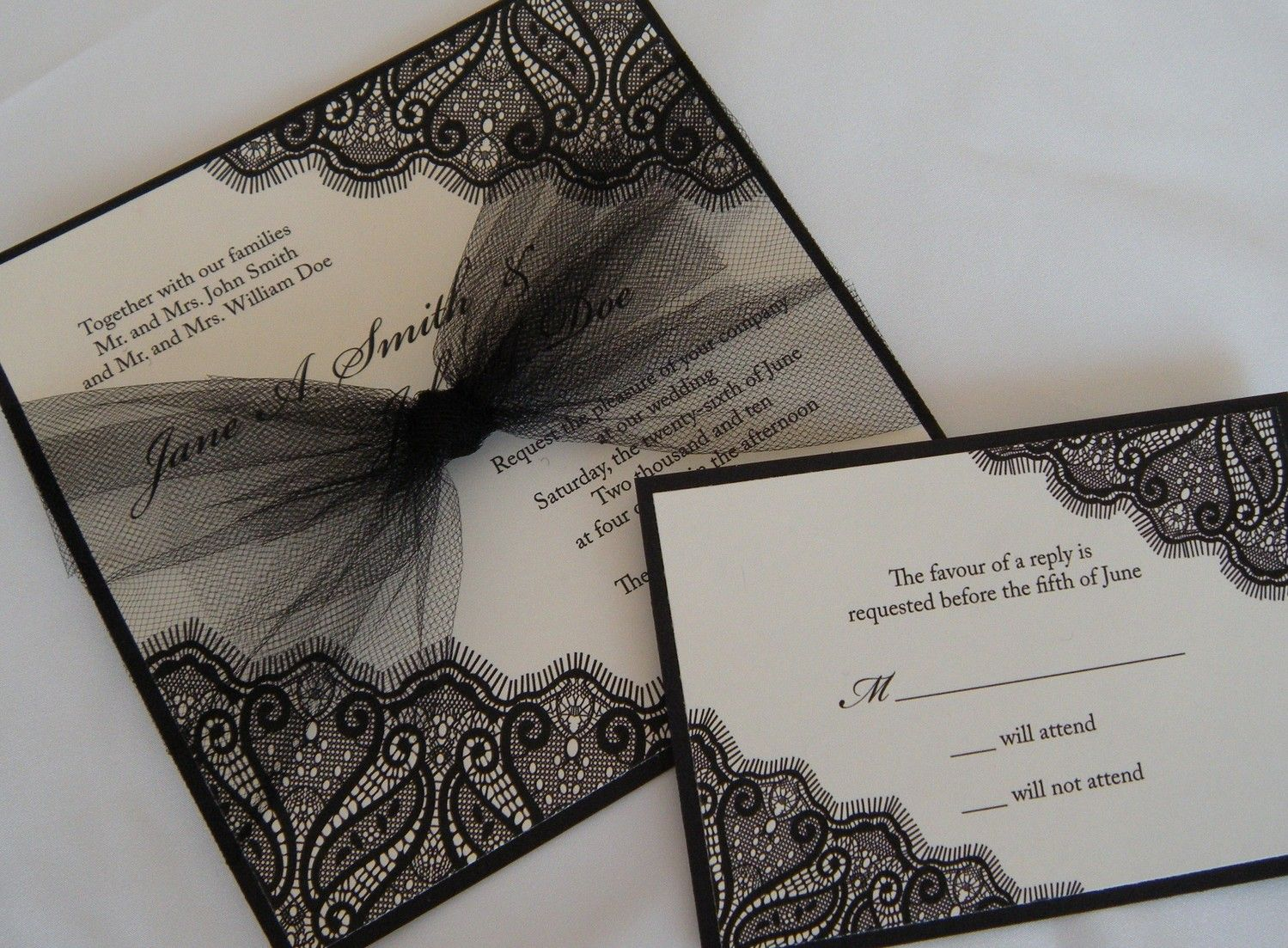 17 Best images about wedding invites – Black Lace Wedding Invitations