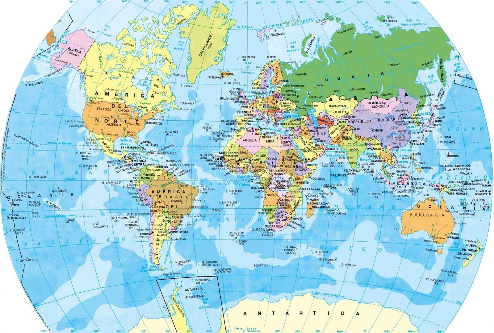 mapamundijpg 16001079  sociales  Pinterest  Mapa de espaa