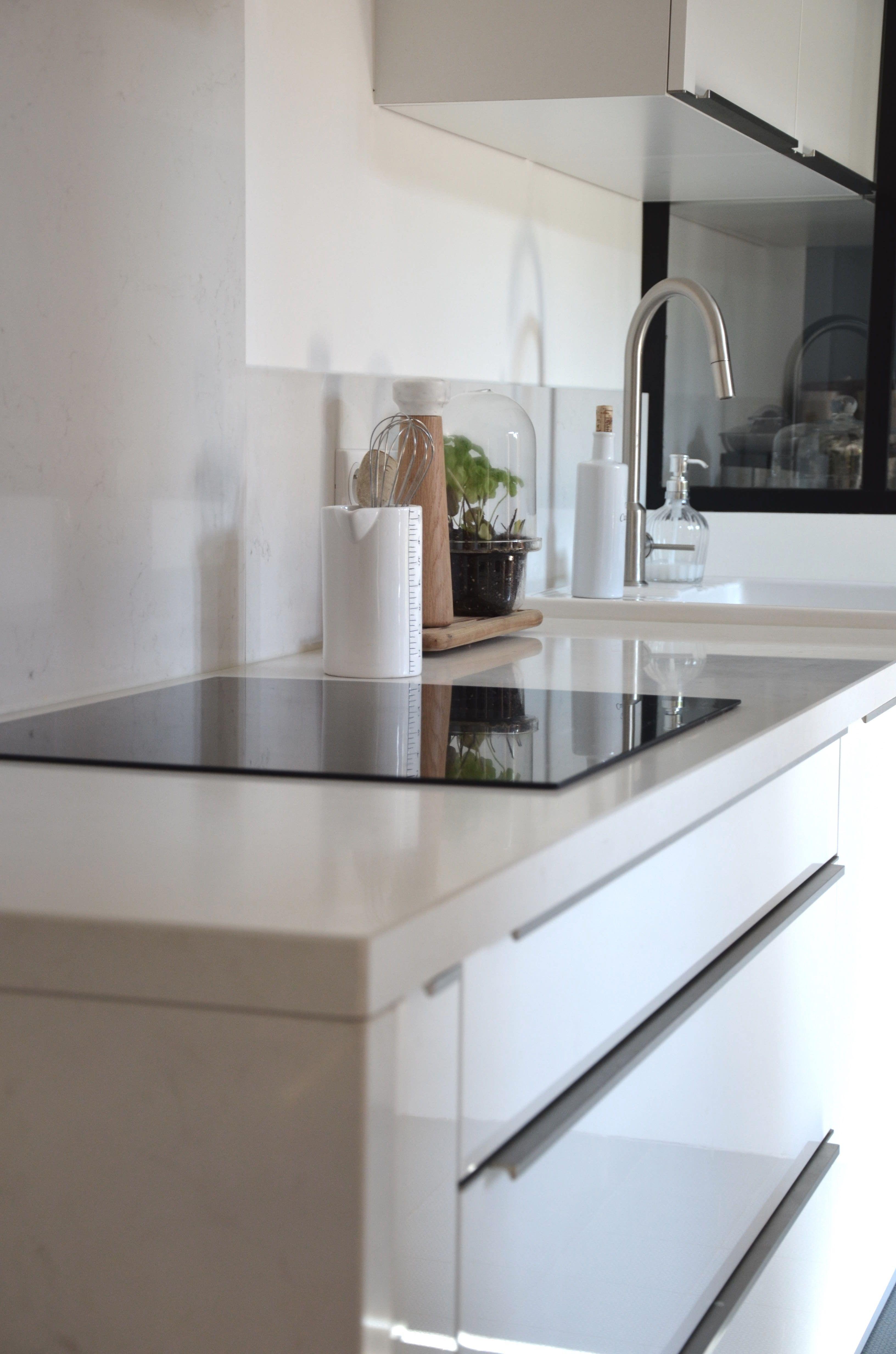 White Kitchen Quartz Blanc Cuisine Pinterest Kitchens