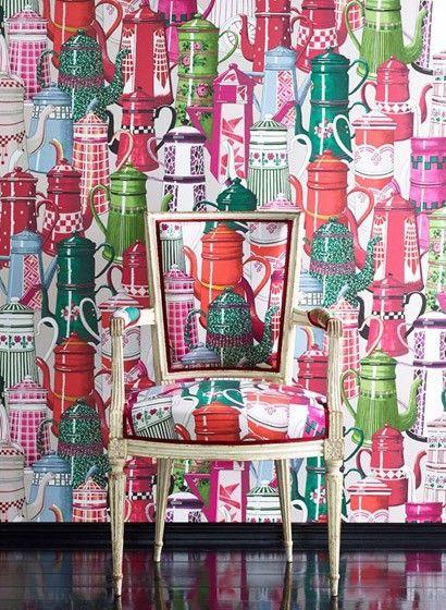 manuel canovas tapete paulette von colefax fowler 2142 tapeten muster und wohnen. Black Bedroom Furniture Sets. Home Design Ideas