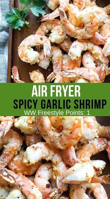 Air Fryer Spicy Garlic Shrimp - Recipe Diaries #garlicshrimprecipes