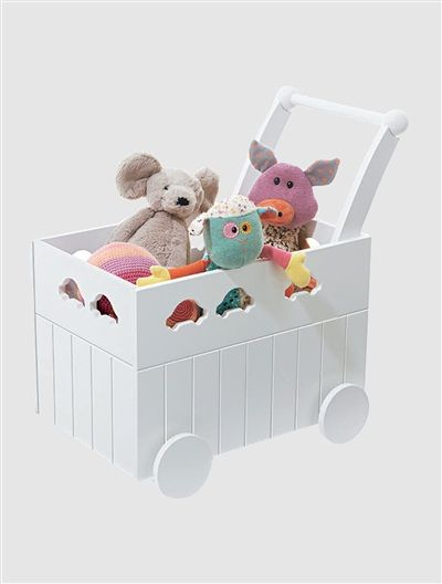 Baby Bedroom In A Box Special: Baby Walker Toy Box Pink-lilac+White OR HOLDS ALL DOLLS