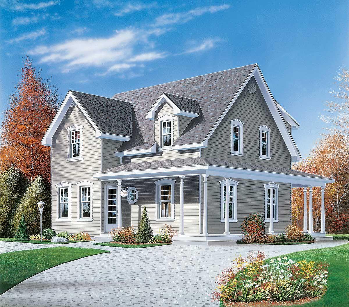 37++ Narrow lot farmhouse plans best