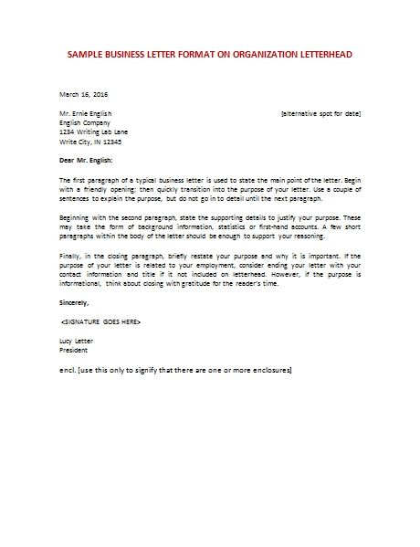 Samples Business Letter Format Write Perfect Addressing Best