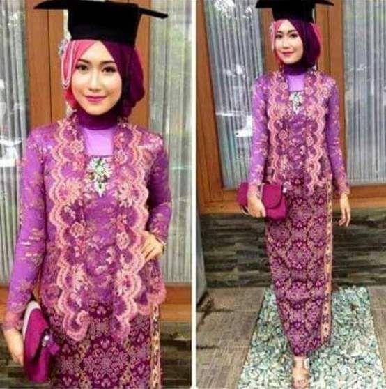 model kebaya wisuda modern untuk hijab