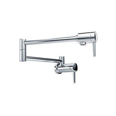 Shop Delta Faucet DELTA 1165LF 2-Handle Pot Filler Wall Mount ...