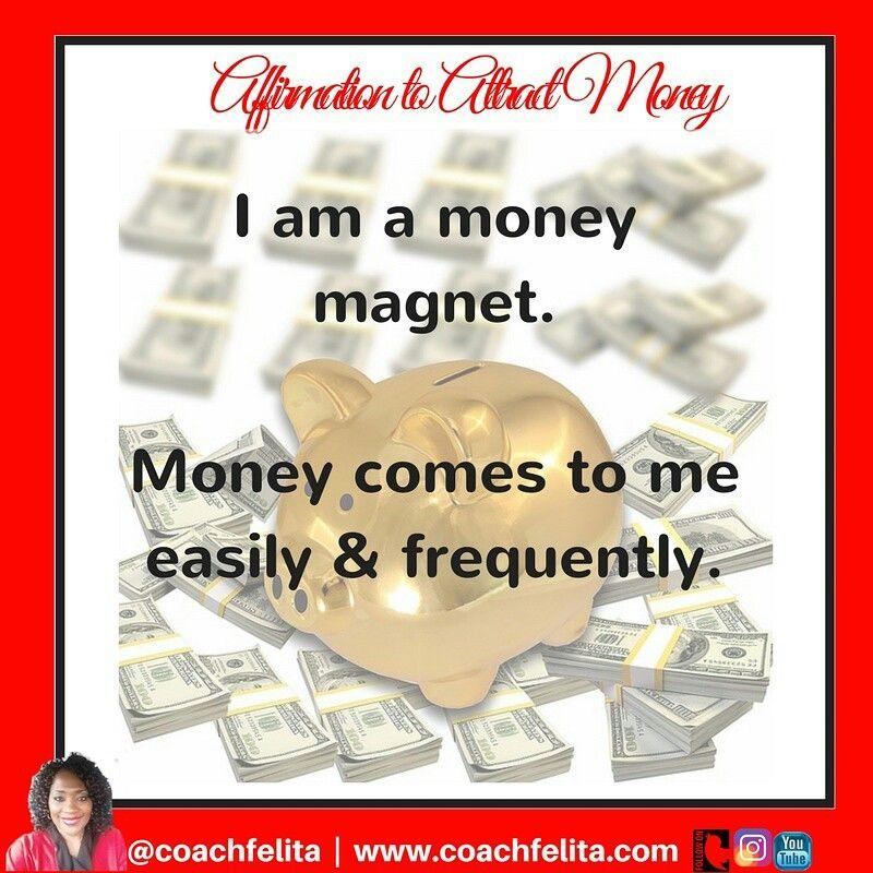 Today's affirmation. #mondaymotivation #mondaymorning #affirmations #money #manifestation #moneymagnet #affirm #hustle #manifestmonday