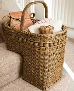 Gotta love a stair basket!