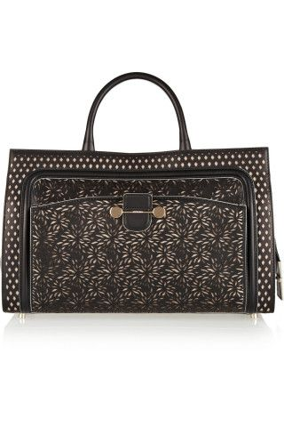 Jason Wu | Daphne laser-cut leather tote | NET-A-PORTER.COM
