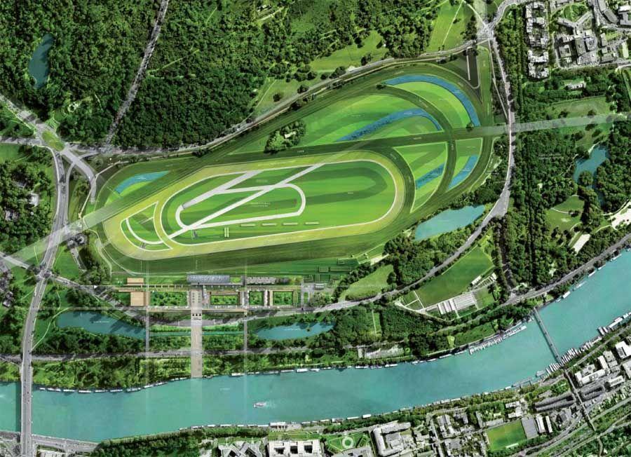Map Of Ireland Racecourses.Longchamp Racecourse Paris Map 地图 分析图 Architecture