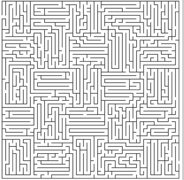 Finding The Way In Is A Lot Easier Than Finding The Way Out Printable Mazes Geometric Coloring Pages Coloring Pages