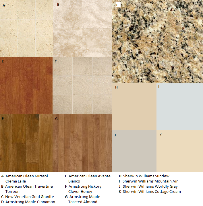 Flooring that goes with new venetian gold granite Paint colors that go with grey flooring