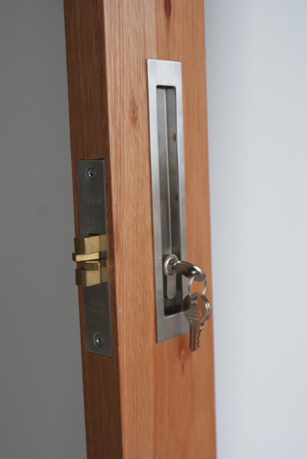 Available In Matt Black Verve Sliding Door Lock Kits