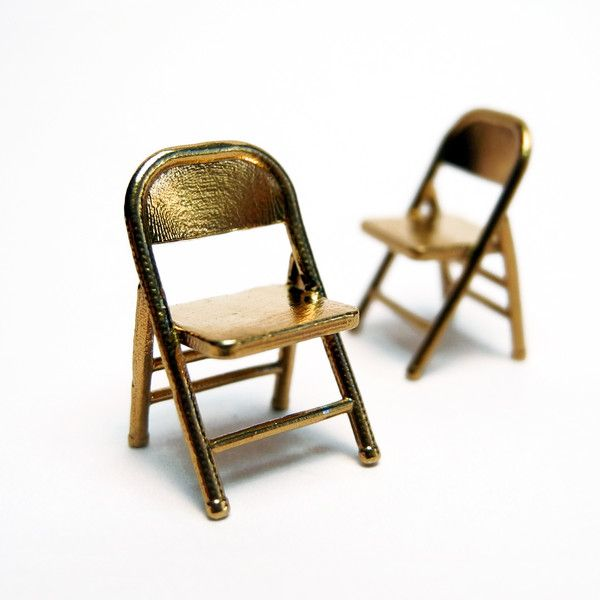 Pair Of Brass Folding Chairs Folding Chair Miniature Chair Chair