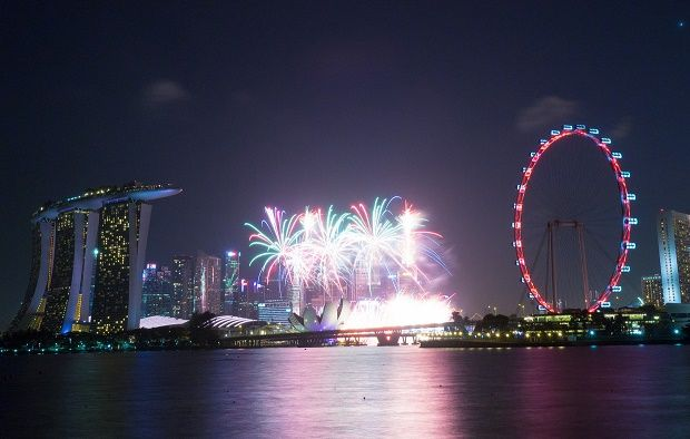 Nye Fireworks From Gardens By The Bay East