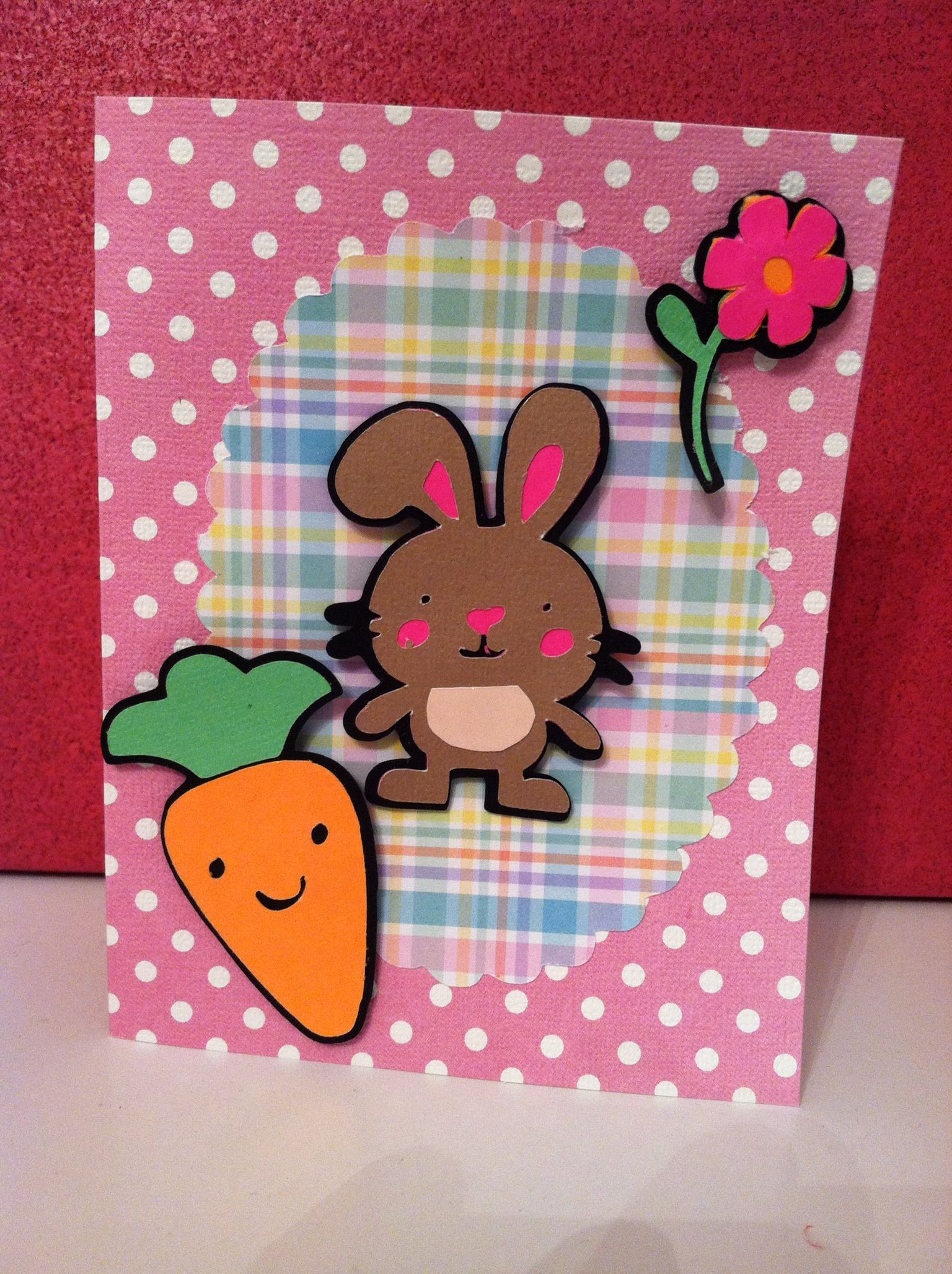 Easter card made with Create a Critter Cricut. Not crazy about it, but I love the carrot...need to use it!