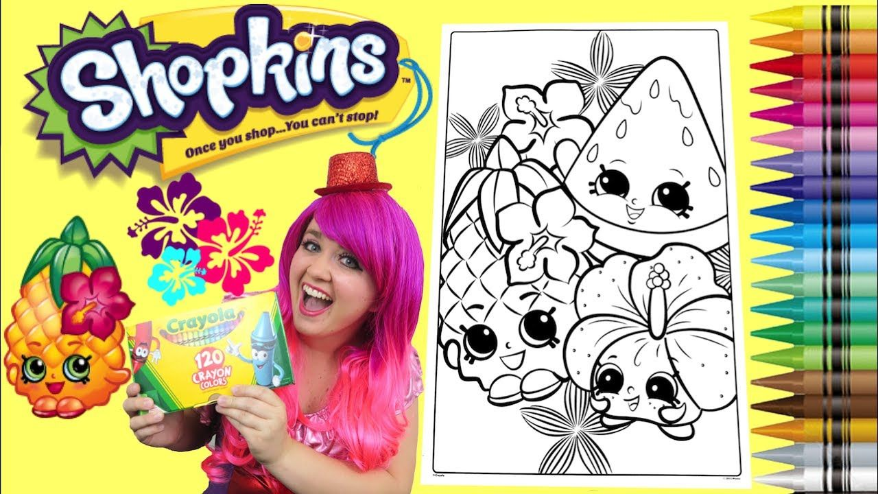 Coloring shopkins pineapple crush giant coloring book page crayola crayo