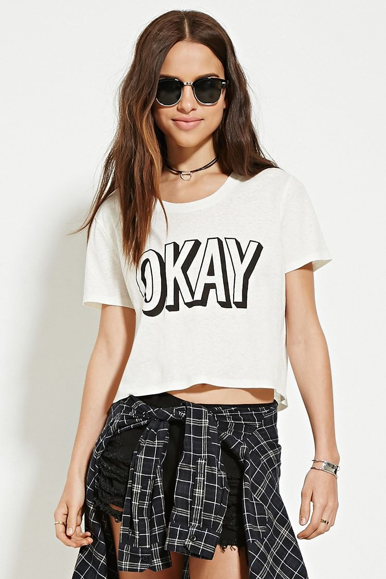 bcf698aee Graphic Design Print, Graphic Tees, Short Sleeve Tee, Short Sleeves, Forever  21
