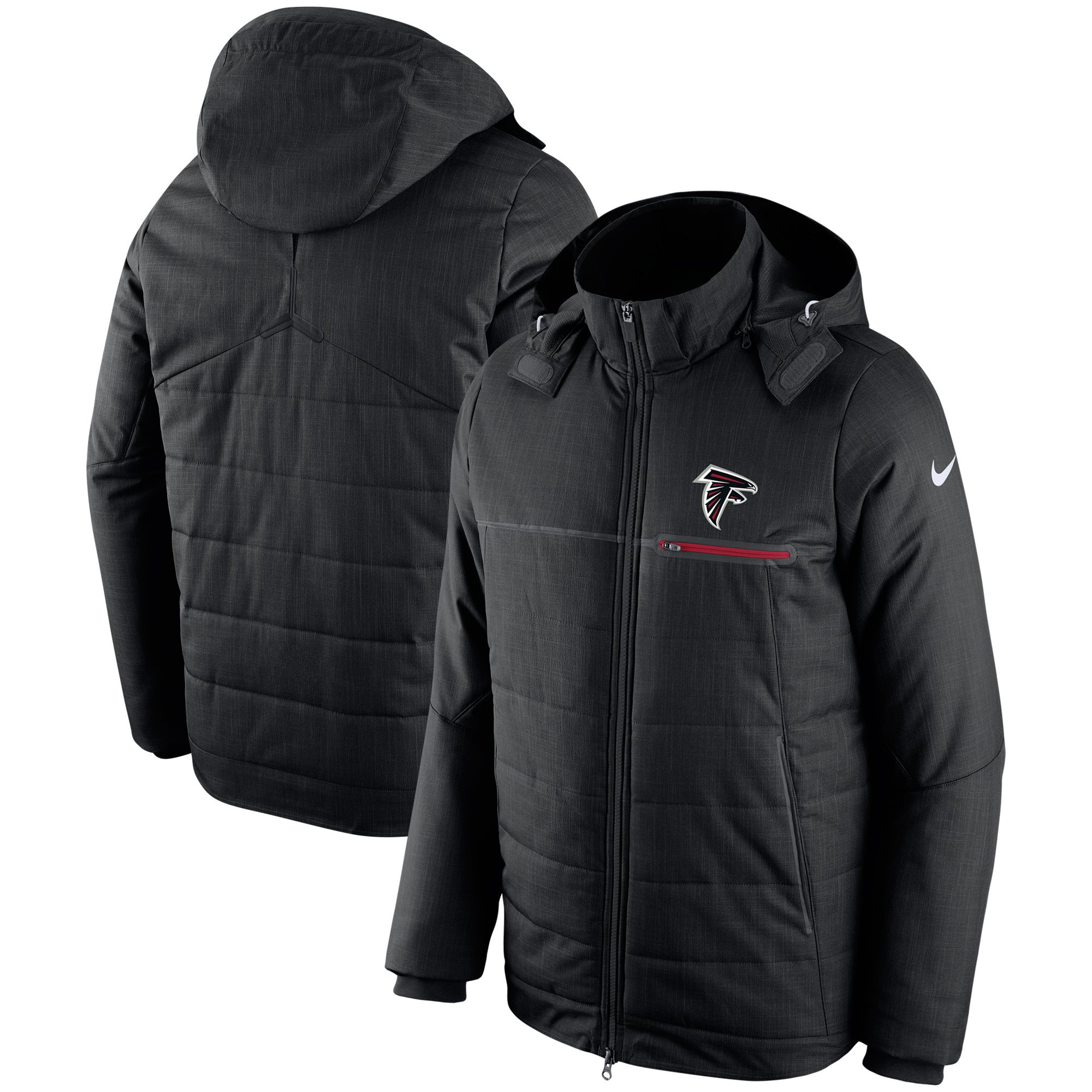 Nfl Atlanta Falcons Nike Champ Drive Sideline Full Zip Jacket Black Zip Jackets Jackets Stylish Jackets