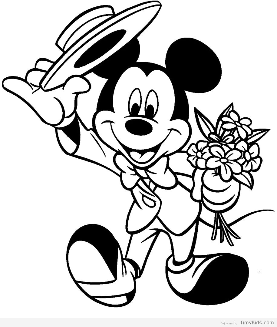 http://timykids.com/mickey-mouse-coloring-page.html | Colorings ...
