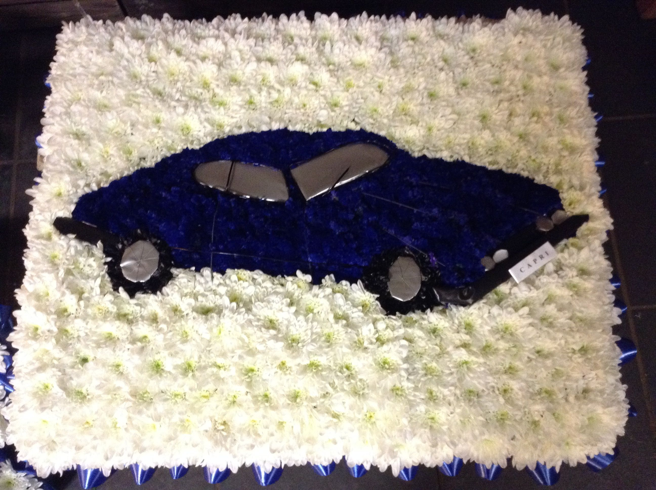 Favourite Car Funeral Flowers Car Favourite Funeral Flowers