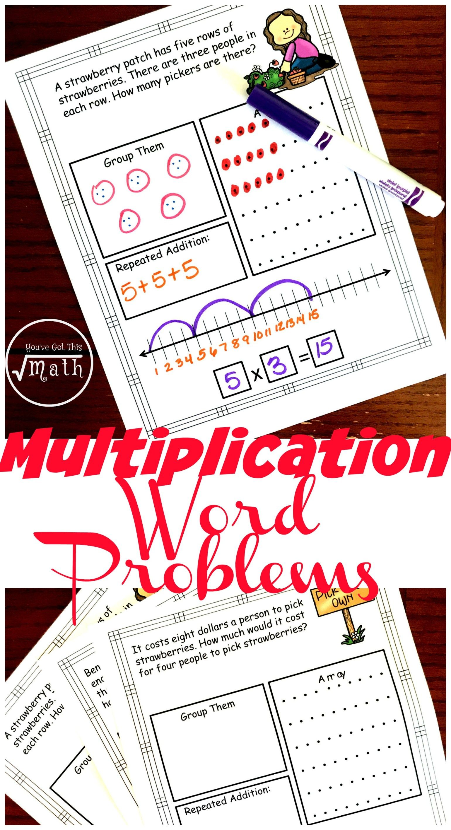 Free Interactive Multiplication Word Problems Worksheets