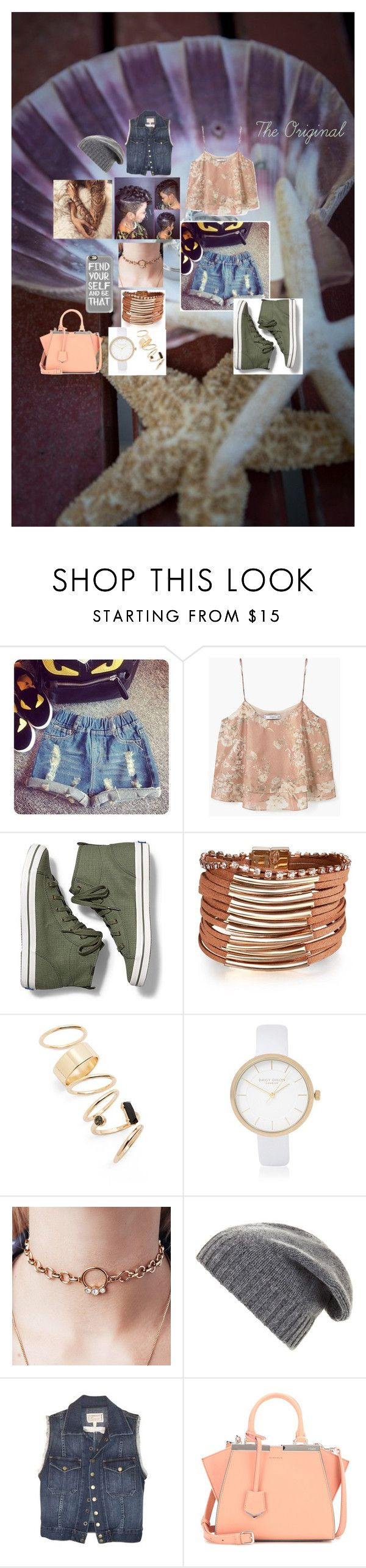 """The Original"" by mstrue on Polyvore featuring MANGO, Keds, BP., River Island, BCBGMAXAZRIA, Current/Elliott, Fendi and Casetify"