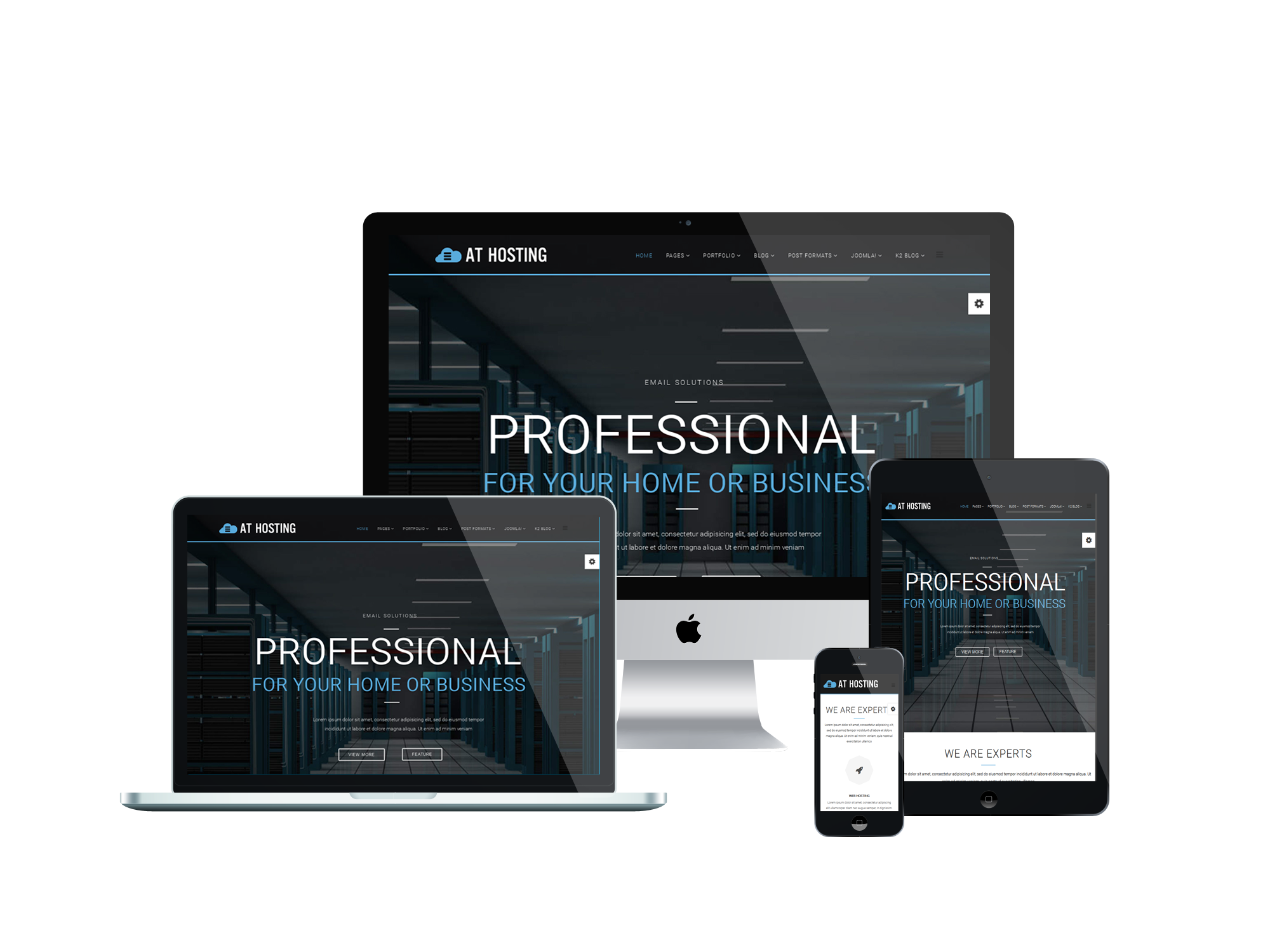 FREE Server Hosting Joomla Template – AT Hosting is an excellent