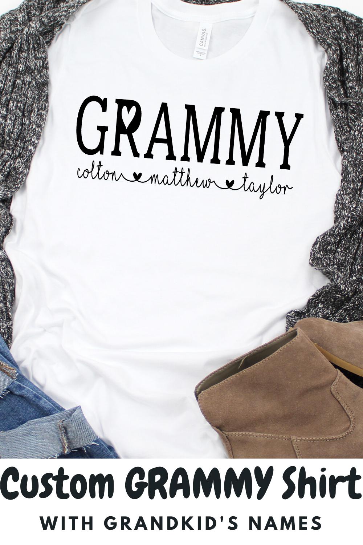 WORLDS GREATEST GRANNY Gift Mamaw T-shirt Grandma Loved Long Sleeve Tee
