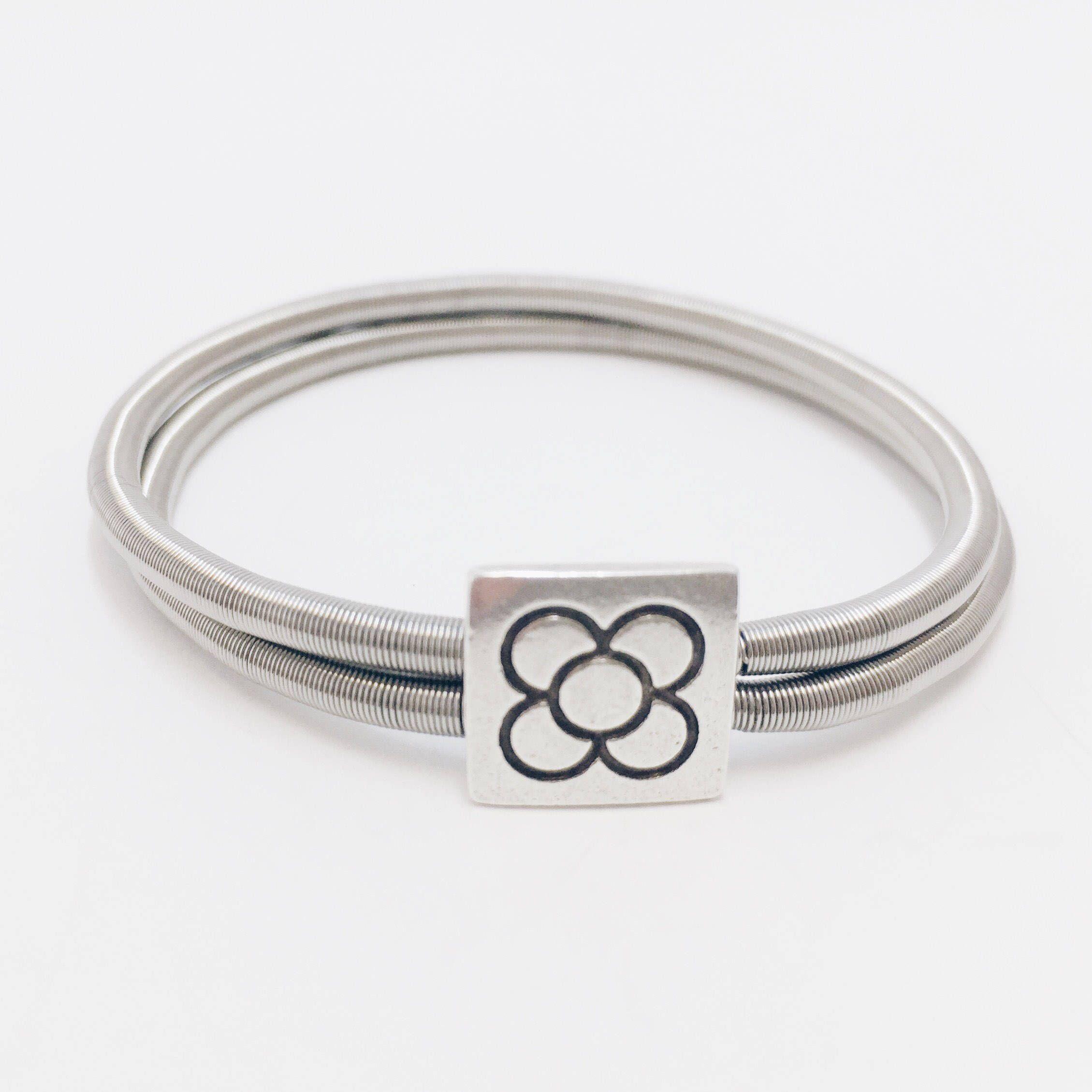 Barcelona gift Barcelona flower bracelet guitar string panot Barcelona bracelet panot flower bracelet flower bracelet