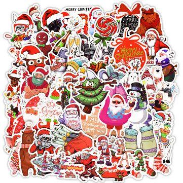 50Pcs Christmas Santa Claus Series Stickers  affordable home decor, thrifted decor, chic home decor #homedecore #homedecorindo #homedecorindonesia