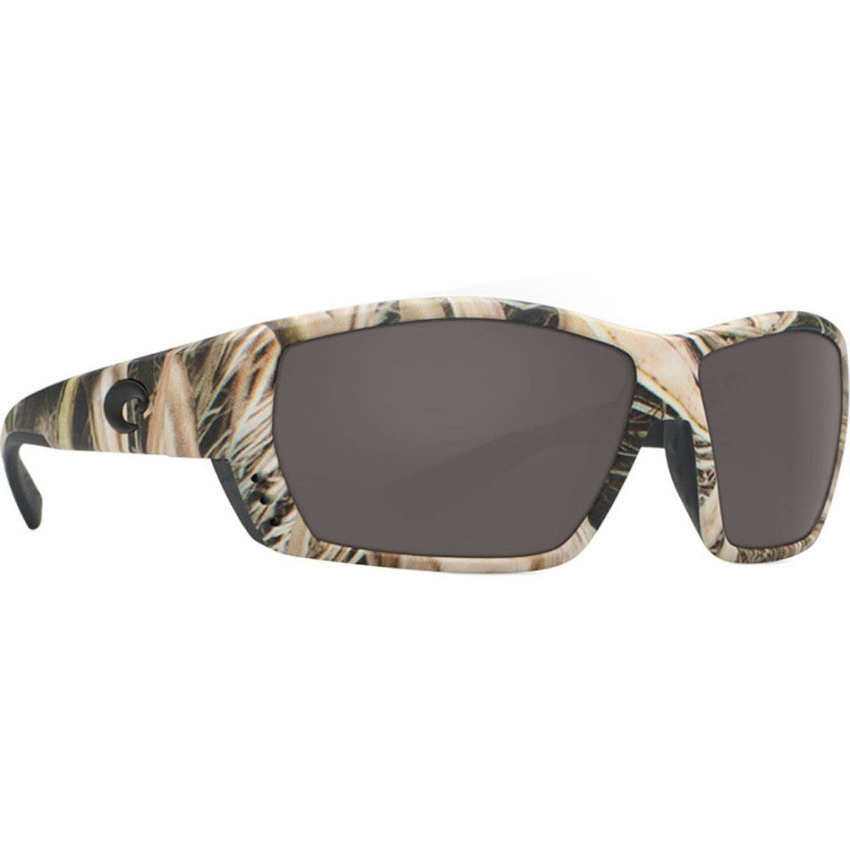 Costa Del Mar Tuna Alley Men's Polarized Sunglasses, Mossy Oak Shadow Grass Blades Camo/Gray Glass - W580
