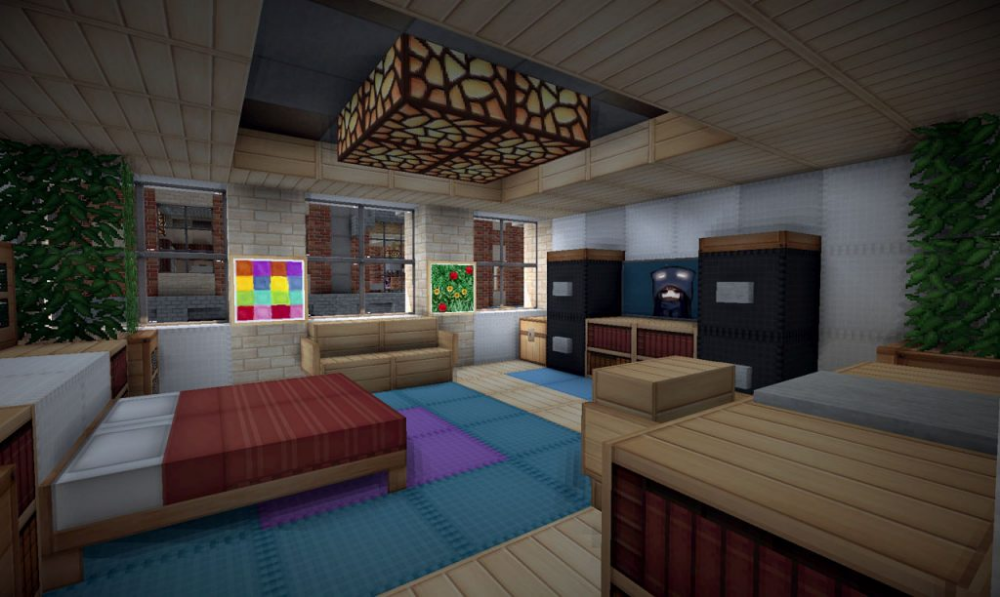Pin by Saba Ideas on Minecraft Bedroom In Game | Minecraft ...
