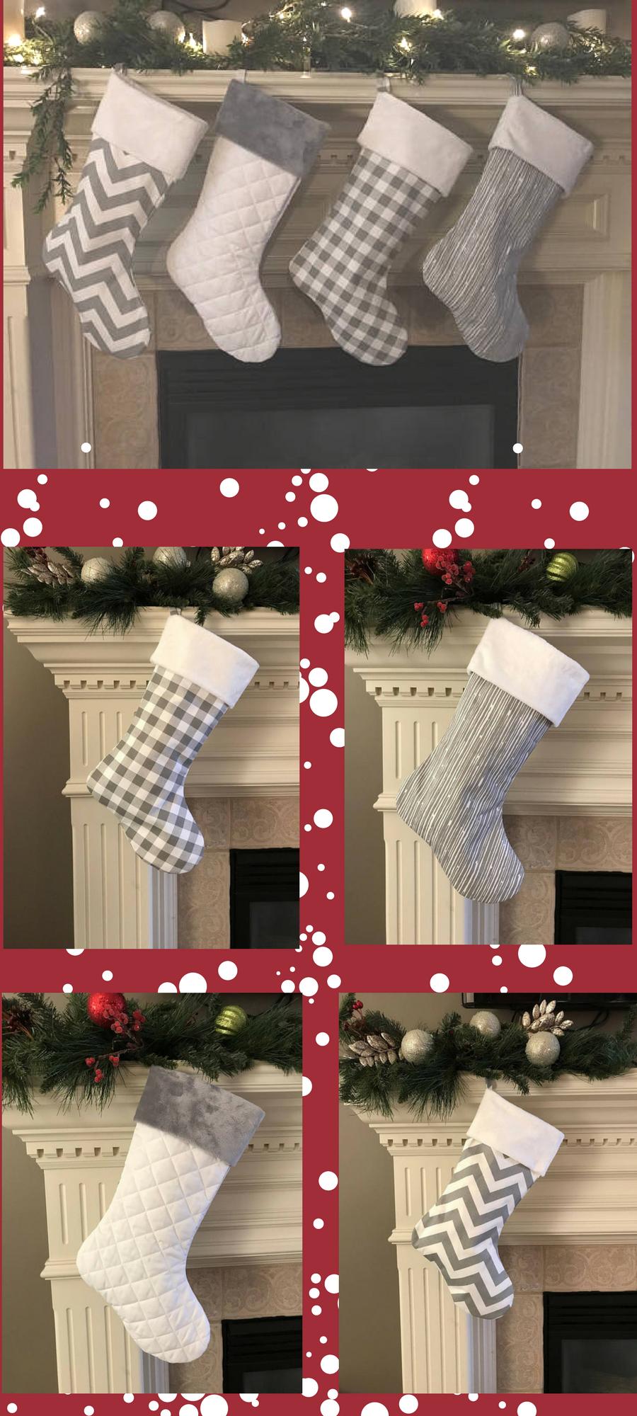 Gray Christmas Stockings.I Love These Family Christmas Stockings In Gray Farmhouse