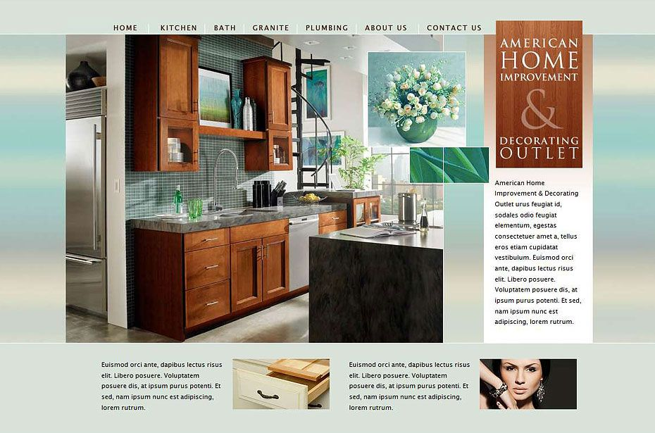 Stunning Home Improvement Website Design Pictures Amazing House