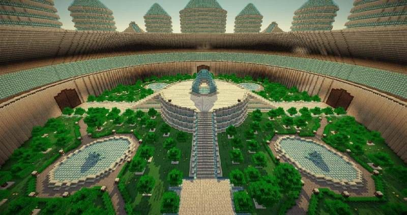 How To Build A Garden Minecraft The Minecraft Castle The Water