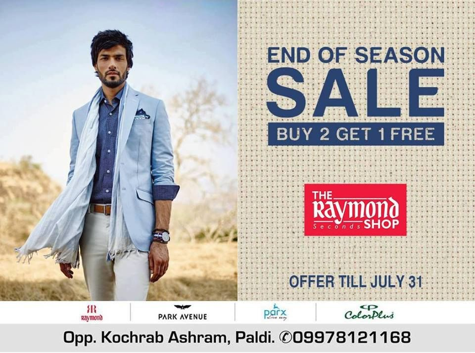 #SaleTime - Power up your closet with The Raymond Seconds Shop - Paldi's End of Season Sale !  #SaleOffer #EOSS #Raymond #RaymondStore #Ahmedabad #ShoppingTime #Weekend #Shopping #EndOfSeasonSale #Menswear