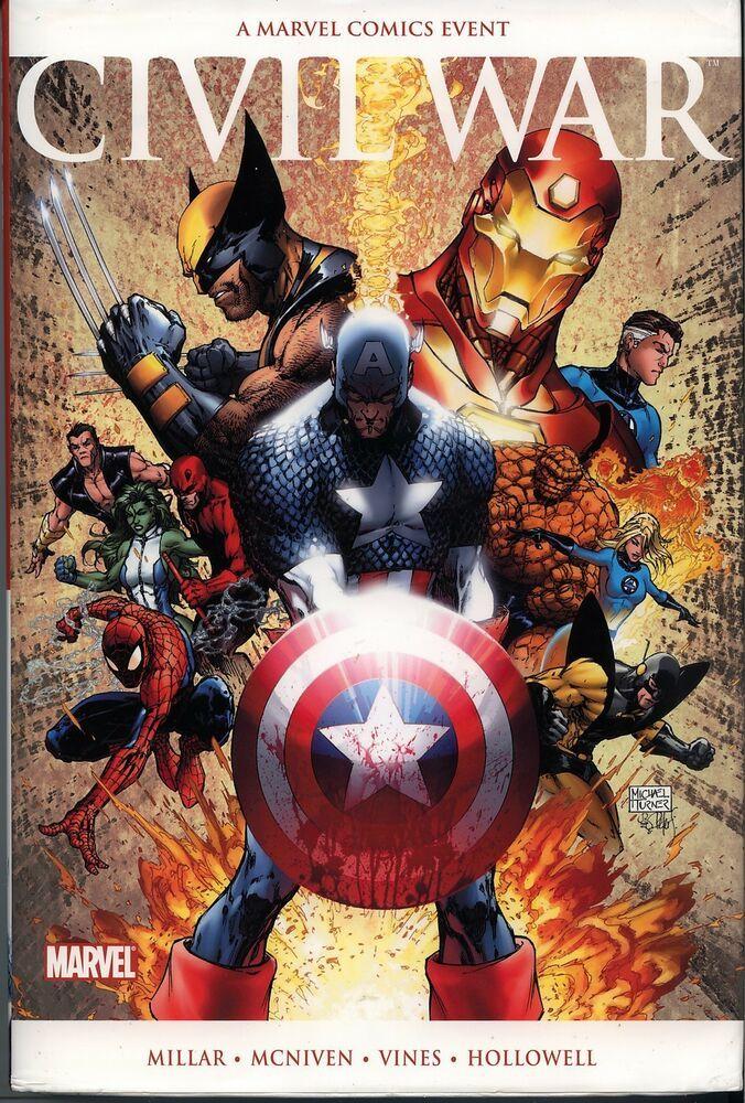 Marvel comics civil war oversized hardcover 1st print oop
