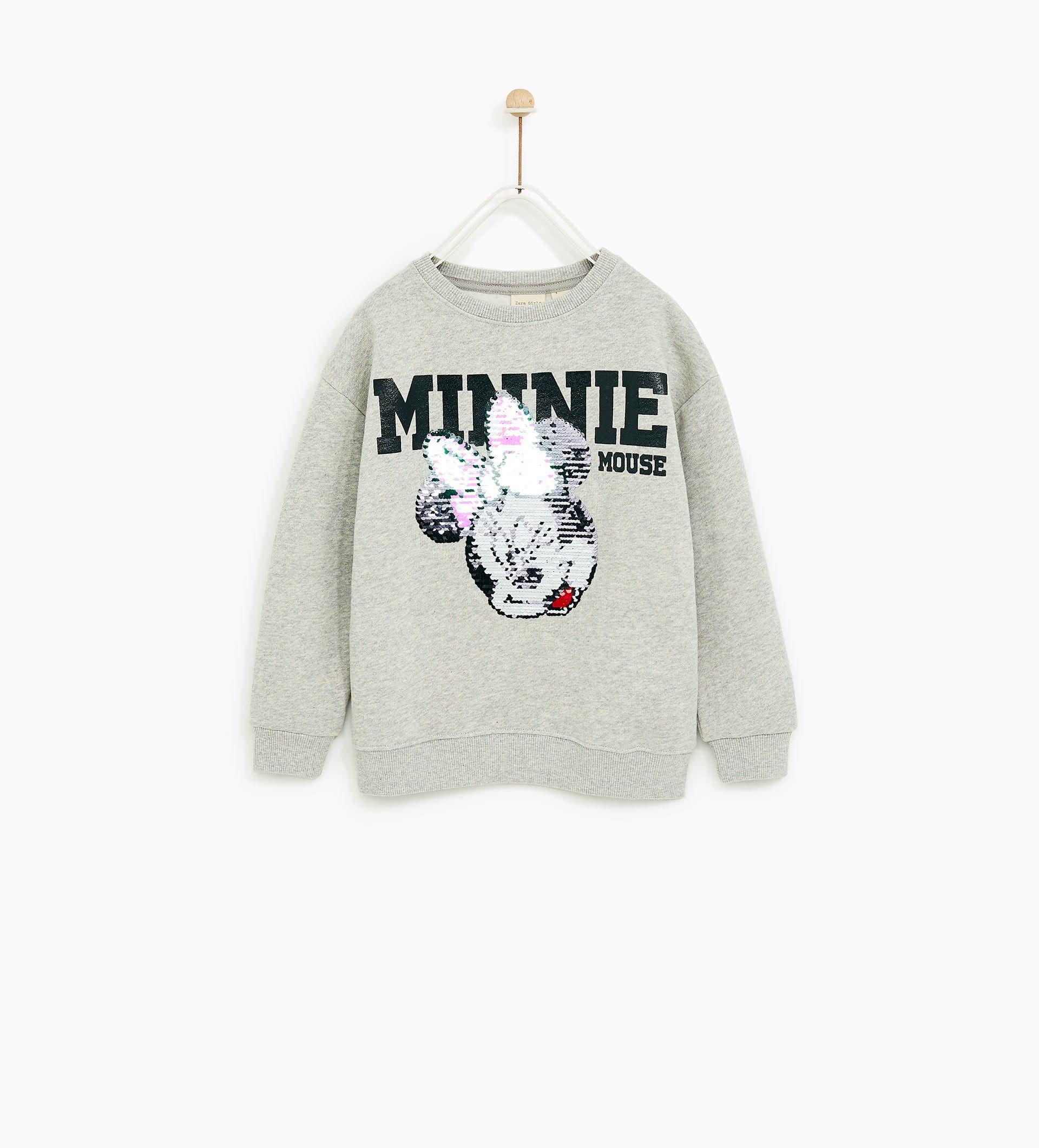 Sudadera Lentejuelas Dobles Minnie Mouse Sudadera De Mickey Ropa Ropa Para Niñas