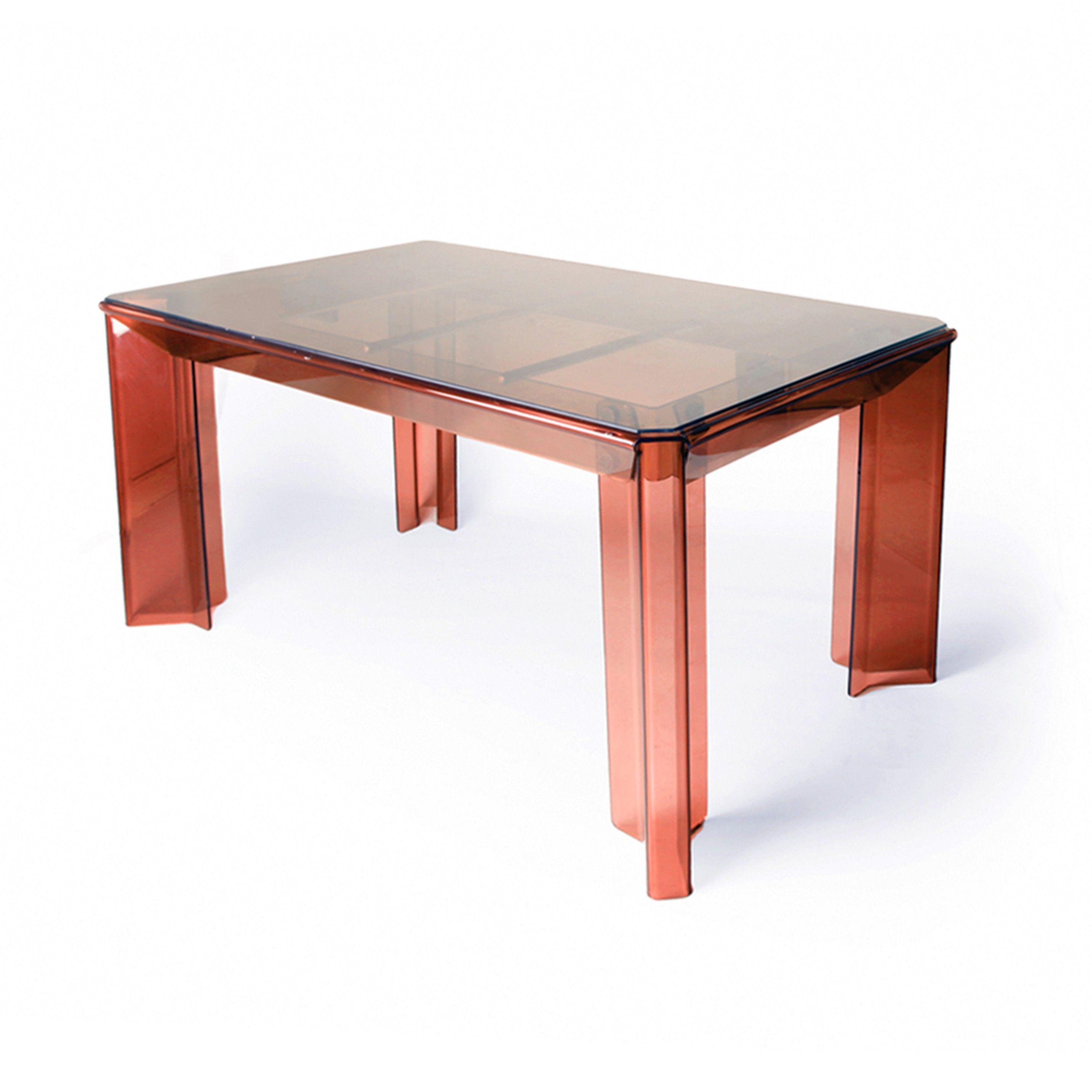 table et chaises uniques en plexiglas fum par michel ducaroy avec des accessoires chroms et plexiglas orange conception trs moderne la table a un - Table Et Chaise Moderne