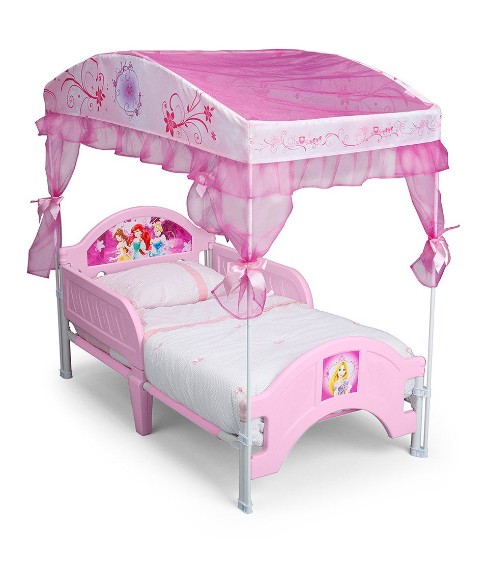 Pink Purple Disney Princess Toddler Canopy Bed Frame By Delta
