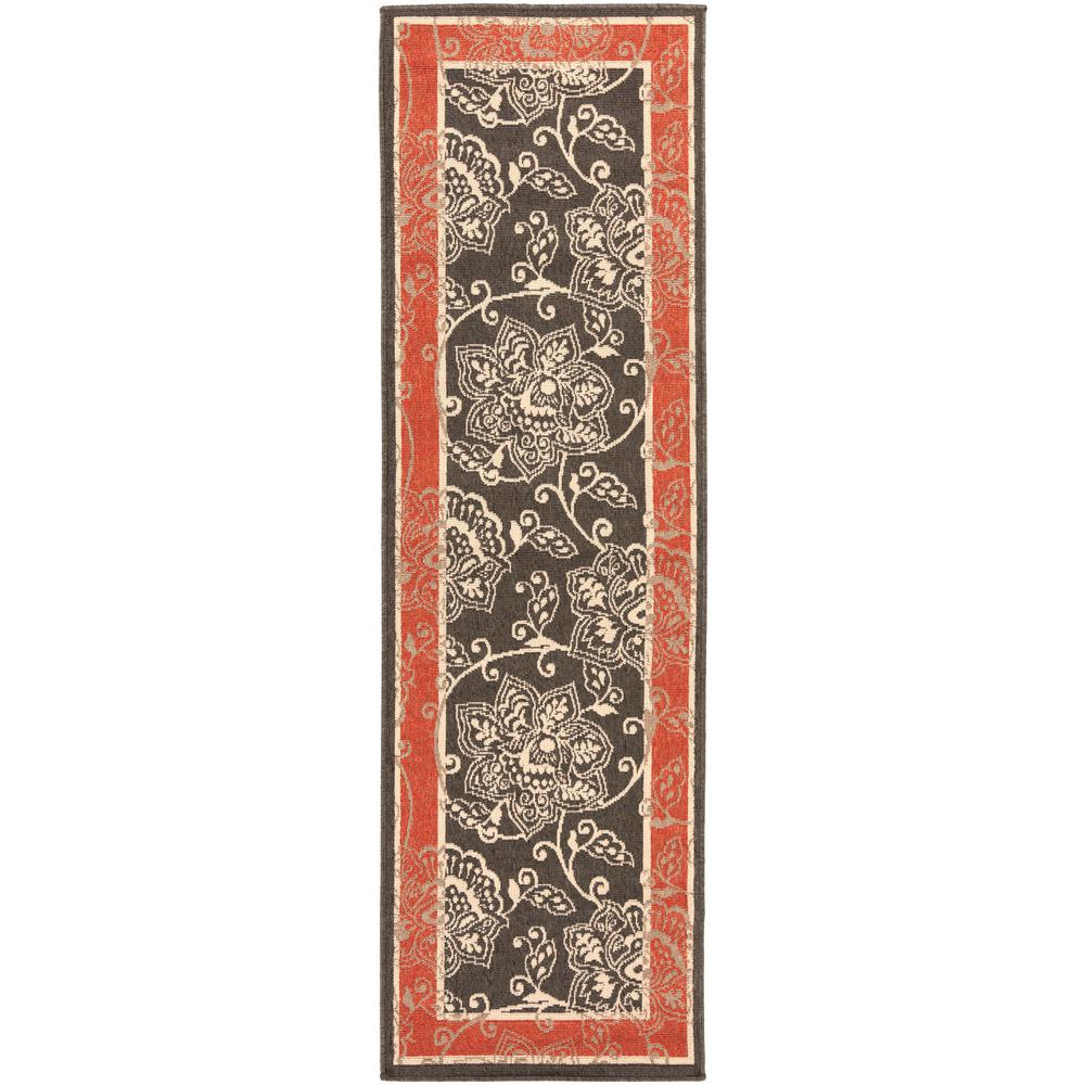Artistic Weavers Tereza Black 2 Ft X 12 Ft Indoor Outdoor Runner Rug S00151001235 The Home Depot Area Rugs Brown Area Rugs Outdoor Runner Rug