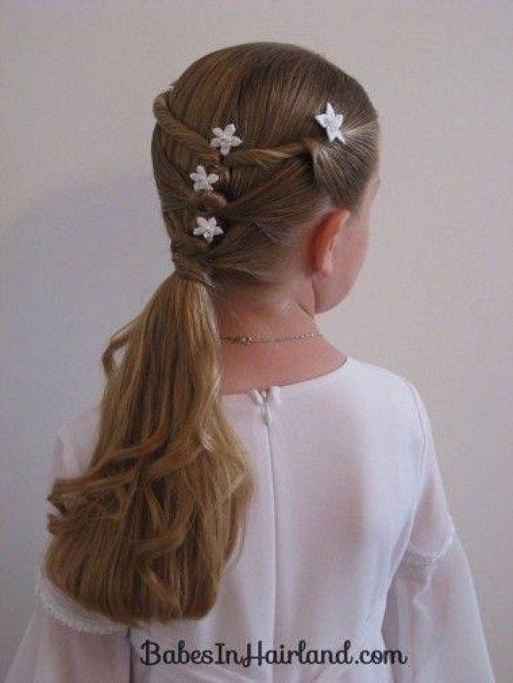 Peinados para primera comunion con bucles