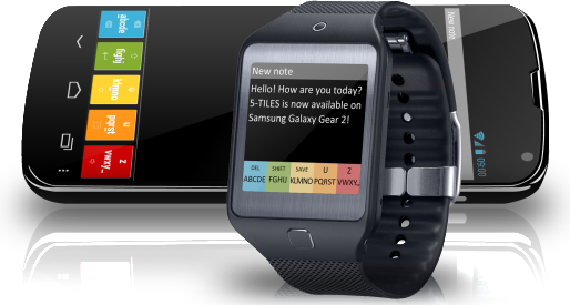 5Tiles KeyBoard app for Gear 2 Gear 2, Samsung galaxy
