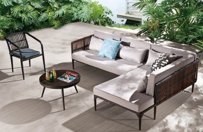 Dakar Sofa Lounge Set Sectional Patio Furniture Modern Outdoor